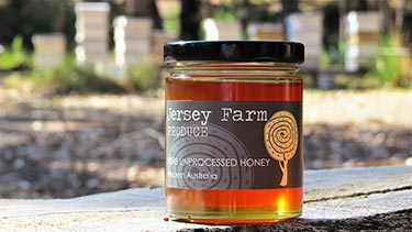 pure unprocessed honey from Jersey Farm