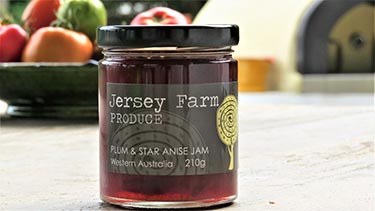 plum and star anise jam from Jersey Farm
